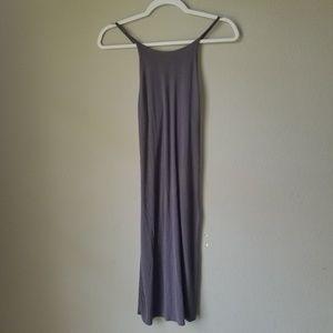 VS Grey Ribbed Spaghetti Strap Dress